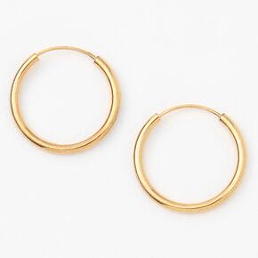 18ct Gold Plated 14MM Hoop Earrings,