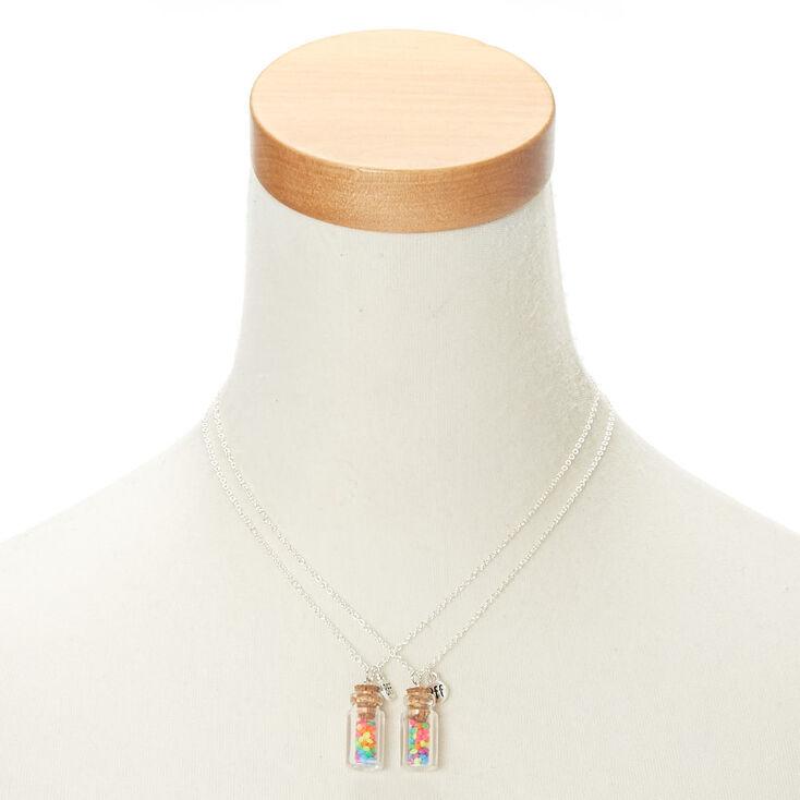 Best Friends Neon Rainbow Bottle Pendant Necklaces,