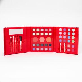 Palette compacte de maquillage 48pièces rouge à pois,