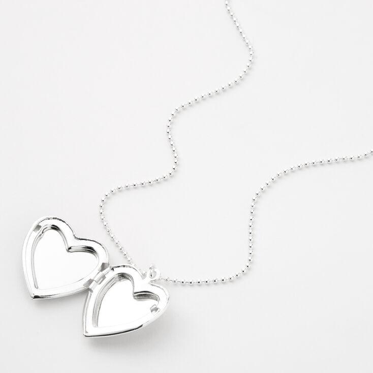 Collier à médaillon cœur Yin-Yang - Noir,