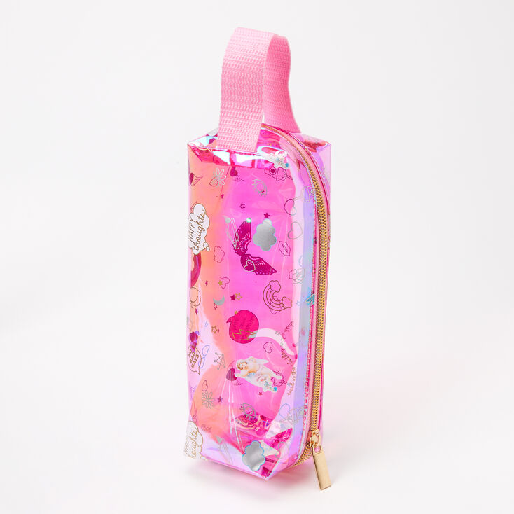 Head In The Clouds Tossed Icon Pencil Case - Pink,