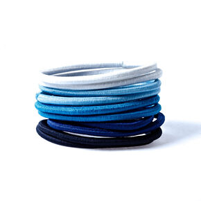 Non-Metal Hair Bobbles - Blue, 10 Pack,