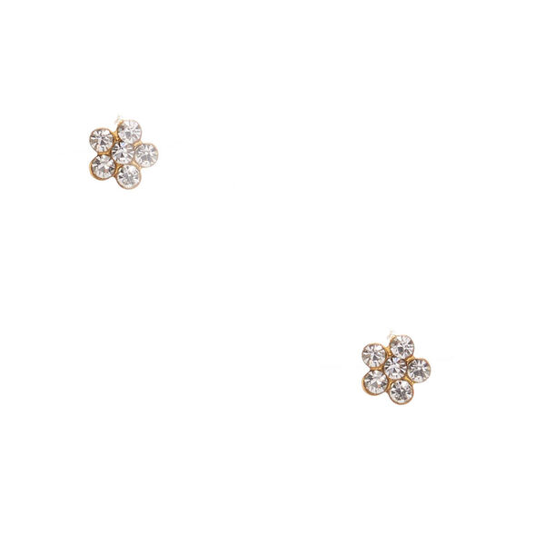 Claire's - 18kt plated crystal daisy earrings - 1