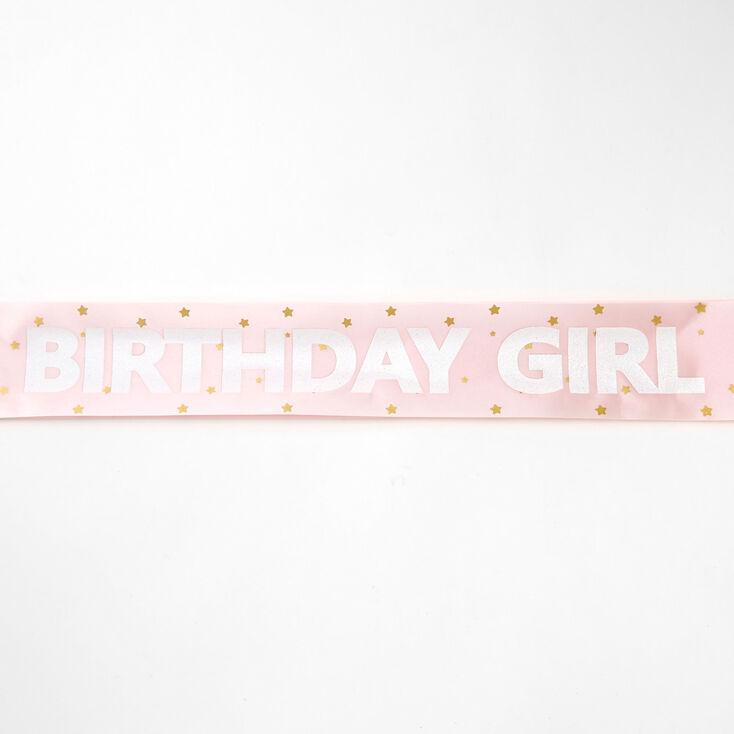 Birthday Girl Sash - Pink,