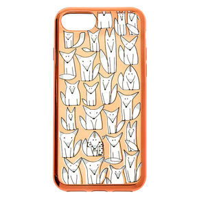 Rose Gold Fox Phone Case - Fits iPhone 6/7/8/SE,