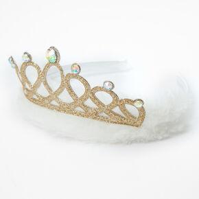 Claire's Club Nativity Tiara Headband - Gold,