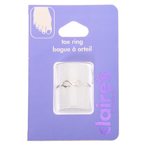 Silver Infinity Toe Ring,