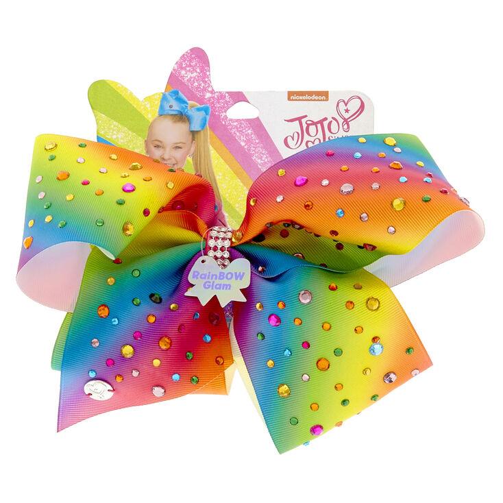 JoJo Siwa™ Large Rainbow Glam Signature Hair Bow,