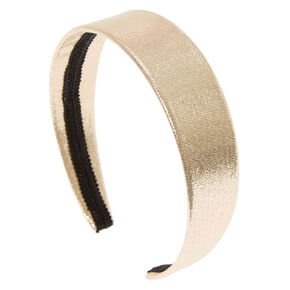 Wide Glitter Headband - Gold,