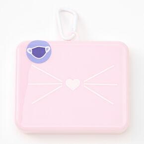 Cat Face Mask Case - Light Pink,