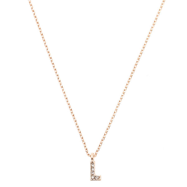 Claire's - rose initial necklace - 1