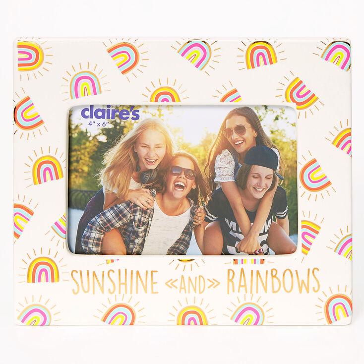 Sunshine and Rainbows Photo Frame - White,