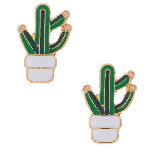 Claire's - cactus stud earrings - 1
