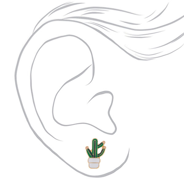 Claire's - cactus stud earrings - 2