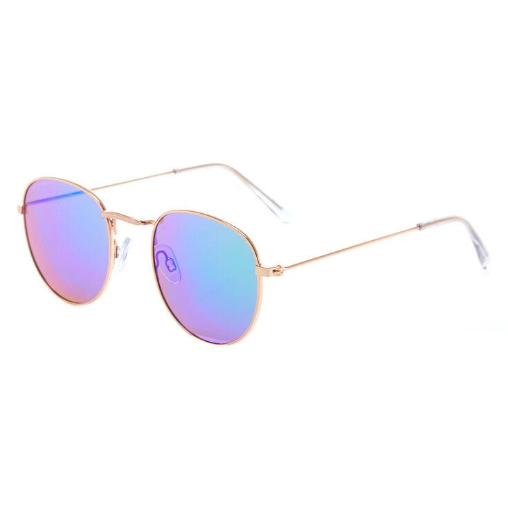 e8917eadfbb Gold Round Sunglasses
