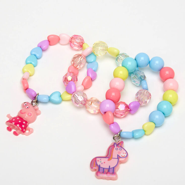 Peppa Pig™ Beaded Stretch Bracelets – 3 Pack,