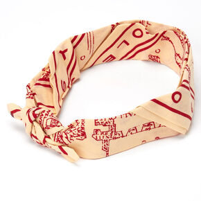 Bandana La carte du Maraudeur Harry Potter™ - Rouge,
