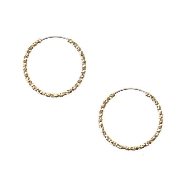 Claire's - laser cut 20mm hoop earrings - 1