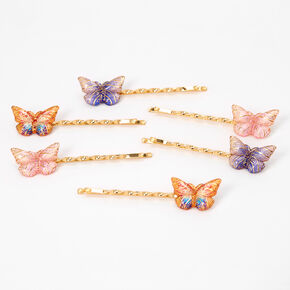 Pastel Butterflies Hair Pins - 6 Pack,