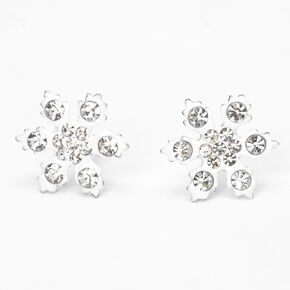 Sterling Silver Snowflake Stud Earrings,