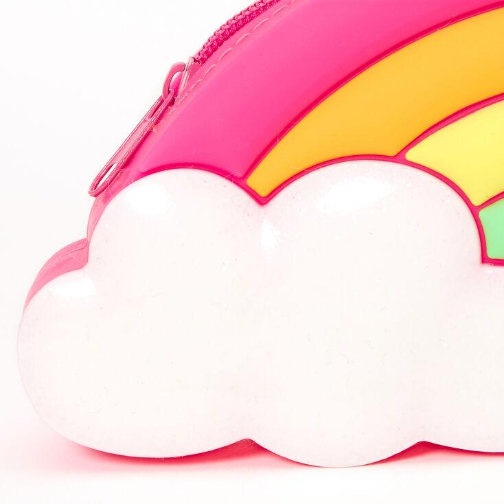 Rainbow Jelly Pencil Case - Pink,