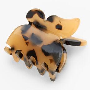 Pince à cheveux papillon écaille de tortue - Marron,