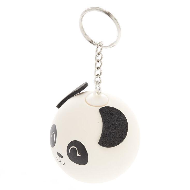 Panda Stress Ball Keychain - White,