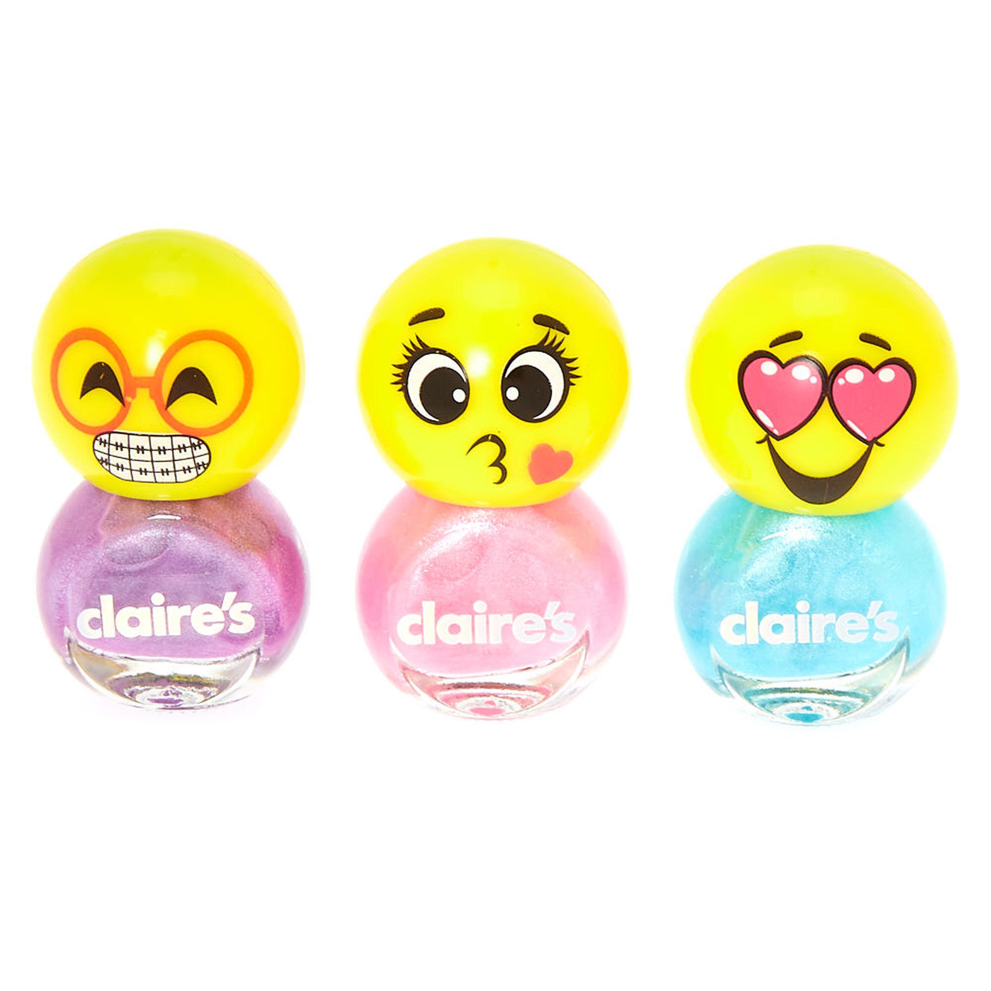 Emoji Nail Polish Set - 3 Pack | Claire\'s US
