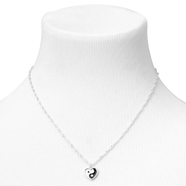 Silver Yin Yang Heart Jewellery Set - 2 Pack,