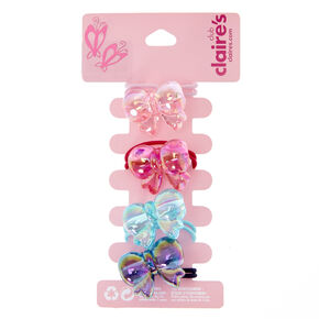 Claire's Club Pastel Bow Hair Ties - 4 Pack,