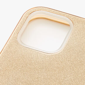 Gold Glitter Protective Phone Case - Fits iPhone 12/12 Pro,