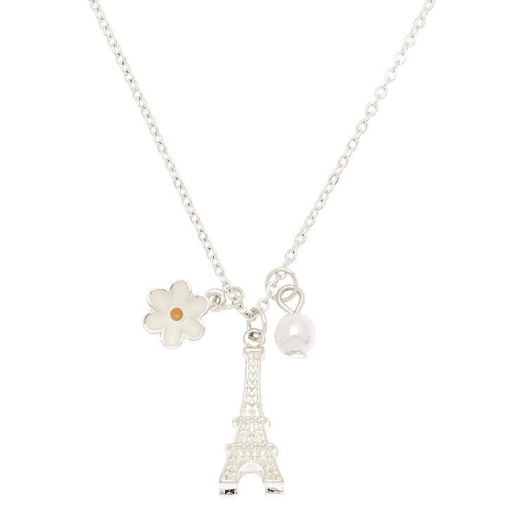 Paris Pearl & Daisy Pendant Necklace,