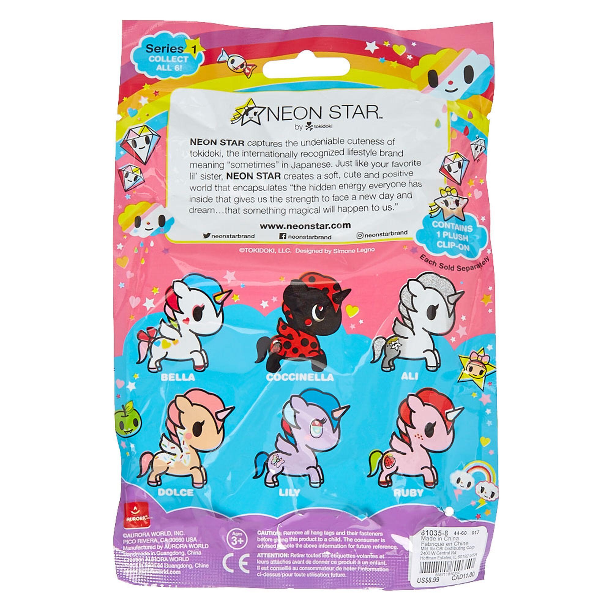 Neon Star By Tokidoki Unicorno Clip On Plush Blind Bag