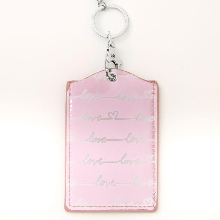 Love Script Lanyard - Pink,