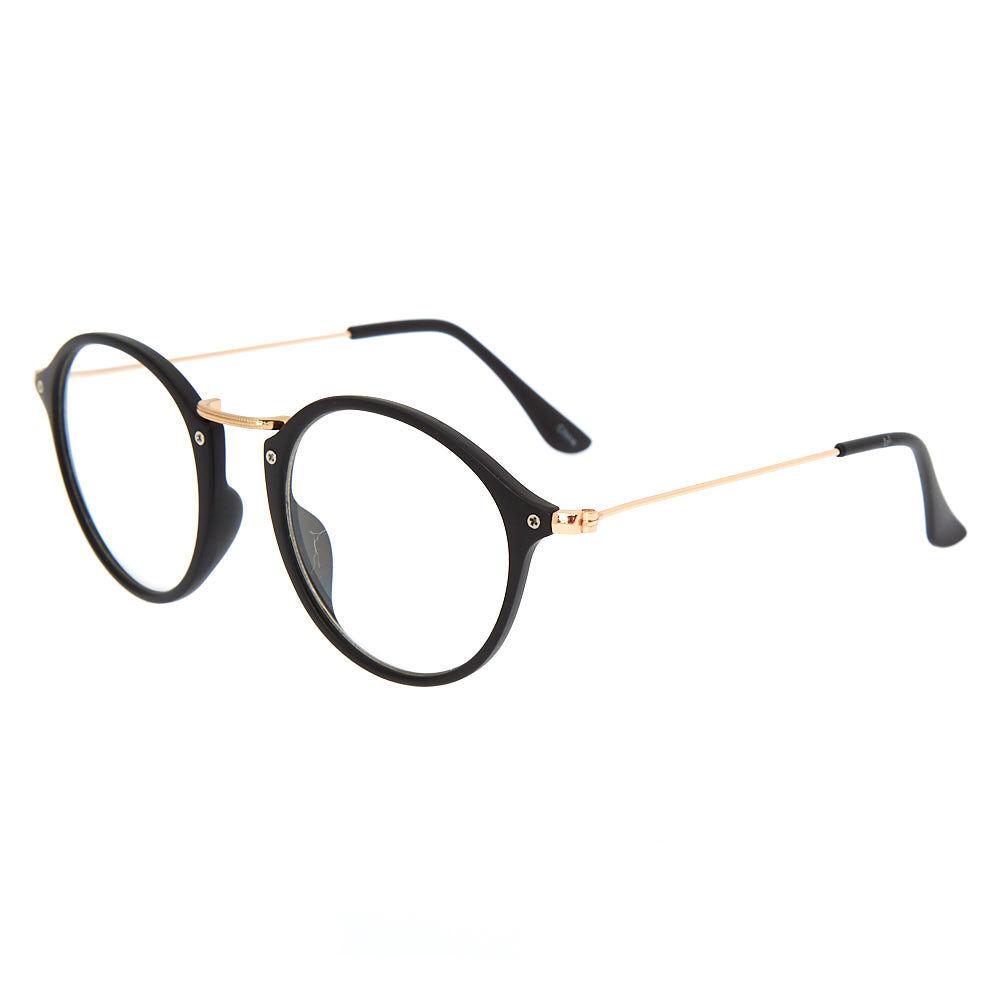 Monture de lunettes noire et ronde effet