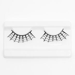 Spiderweb Glitter Eyelashes - Black,