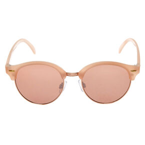 e1864eb4b Rose Gold Tinted Mod Sunglasses - Blush