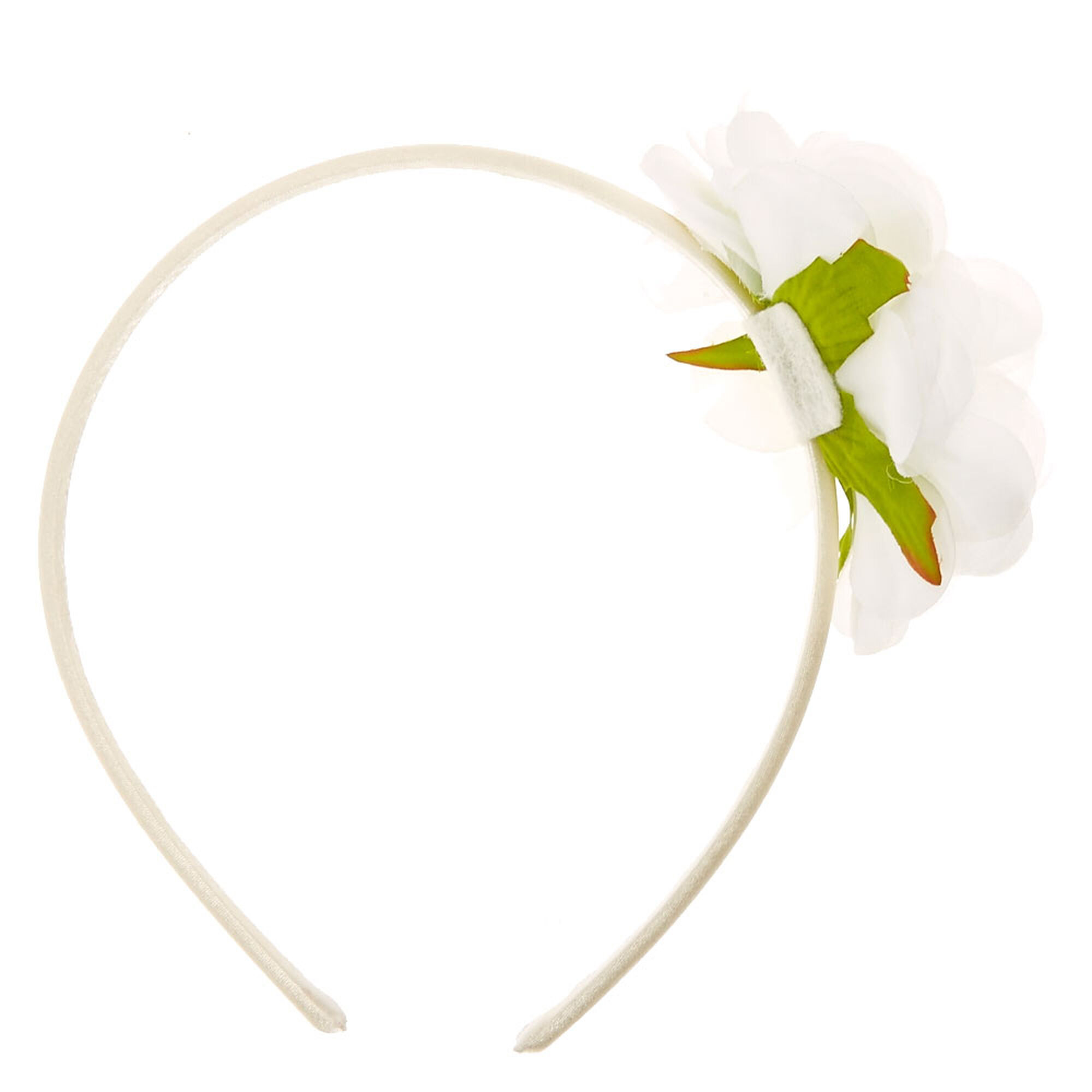 White Floral Headband Claires Us
