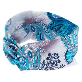 Paisley Twisted Headwrap - Turquoise,