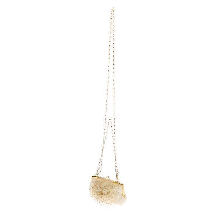 Sac à bandoulière fleur couleur dorée Claire'sClub - Couleur ivoire,