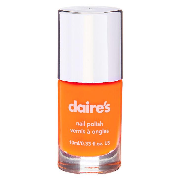 Solid Nail Polish - Neon Orange,