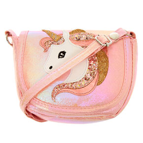 Claire's Club Unicorn Crossbody Bag - Pink,