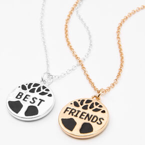 Colliers best friends à pendentif arbre de vie - Lot de 2,