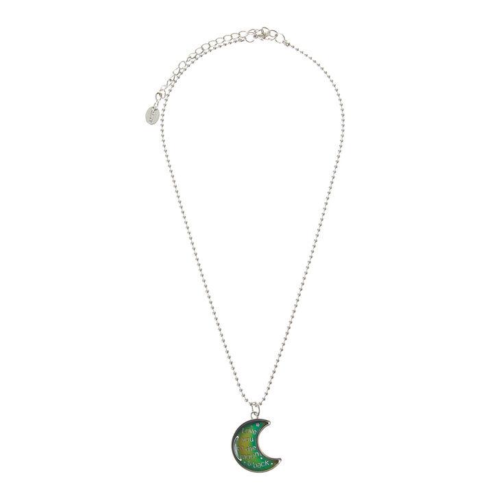 Mood Crescent Moon Pendant Necklace,