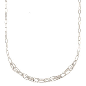 Silver Double Twist Chain Necklace,