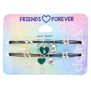 Mood Lock & Key Adjustable Friendship Bracelets - 2 Pack,