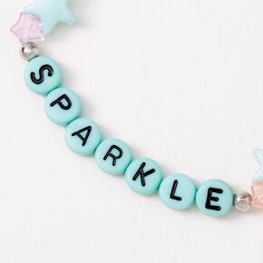Sparkle Beaded Stretch Bracelet - Blue,