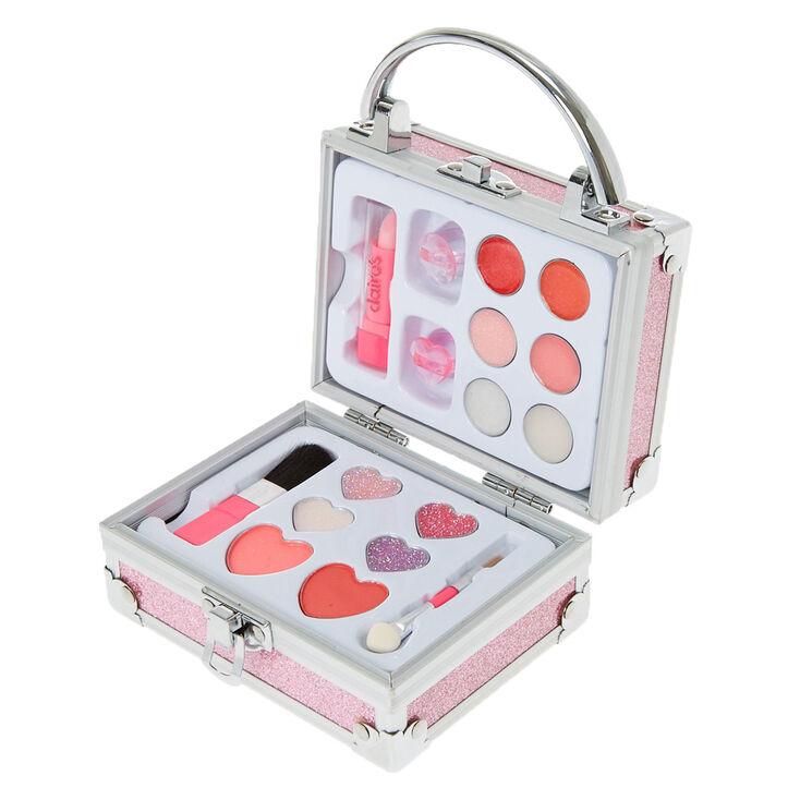 bo te de maquillage paillettes roses avec cadenas claire 39 s fr. Black Bedroom Furniture Sets. Home Design Ideas