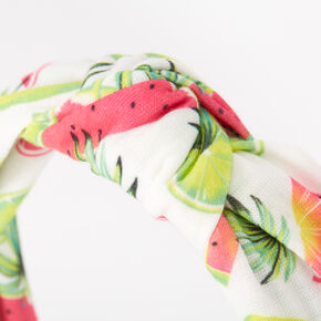 Neon Tropical Fruit Knotted Headband,
