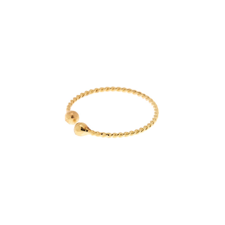 Gold Braided Faux Nose Ring,